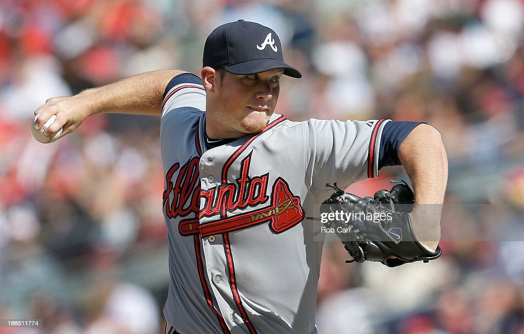 Closer <a gi-track='captionPersonalityLinkClicked' href=/galleries/search?phrase=Craig+Kimbrel&family=editorial&specificpeople=6795784 ng-click='$event.stopPropagation()'>Craig Kimbrel</a> #46 of the Atlanta Braves throws to a Washington Nationals batter during the ninth inning of the Braves 3-1 win at Nationals Park on April 13, 2013 in Washington, DC.