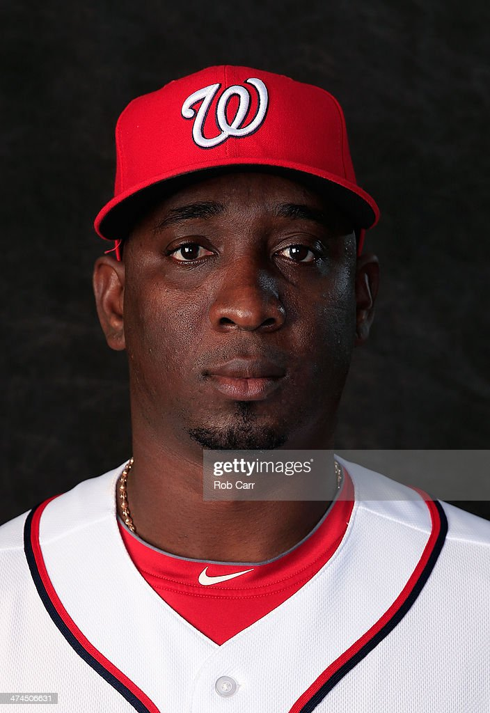 Closer <a gi-track='captionPersonalityLinkClicked' href=/galleries/search?phrase=Rafael+Soriano&family=editorial&specificpeople=587892 ng-click='$event.stopPropagation()'>Rafael Soriano</a> #29 of the Washington Nationals poses for a portrait at Space Coast Stadium during photo day on February 23, 2014 in Viera, Florida.