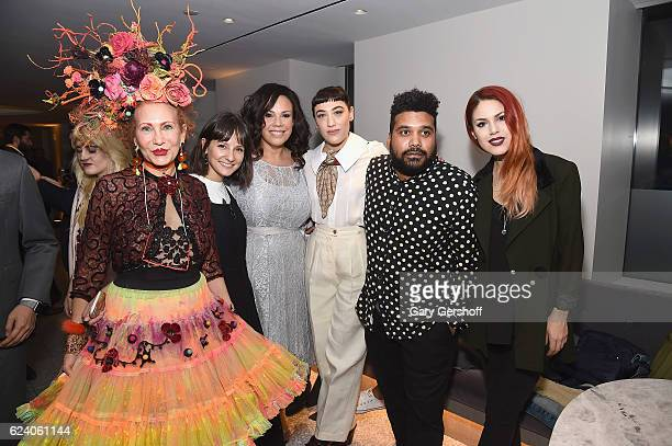 Closet curators Patricia Fox Alyssa Coscarelli Madeline Jones Mia Moretti Oscar Montes de Oca and Luanna PerezGarreaud attend Housing Works' Fashion...