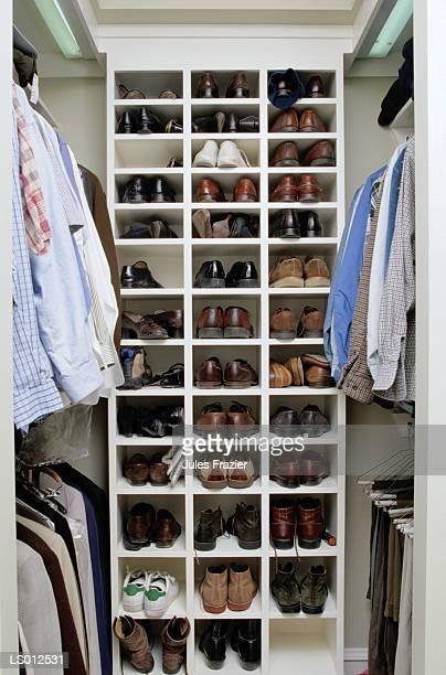 Closet with Shoe Assortment