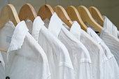 Closet With White Shirts