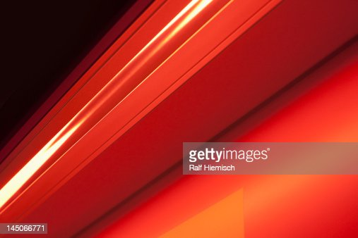Close-up abstract of slanted red shape