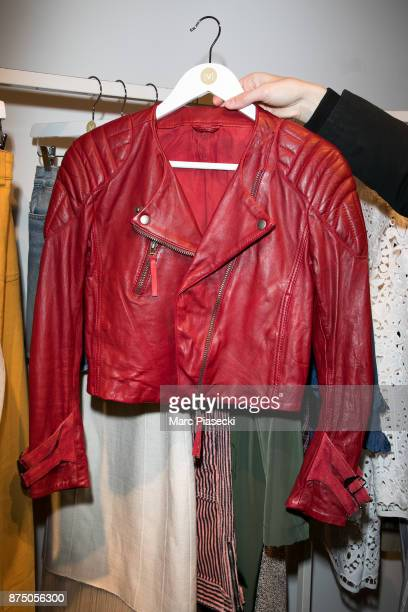 A closeup at the 'Vestiaire Collective x Toni Garrn' charity sale to benefit TGarrn Foundation Popup store on November 16 2017 in Paris France