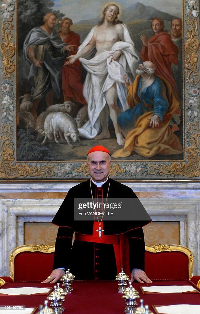 Closeup Cardinal Tarcisio Bertone Vatican Secretary of State since september 2006 The Secretary of State is the 2ndranking official at the Vatican...