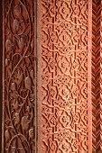 Closeup Detail of a Pillar in Fatehpur Sikri, Agra, India