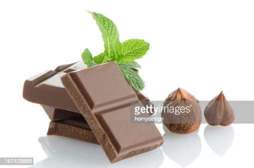 Plano de pormenor do chocolate partes : Foto de stock