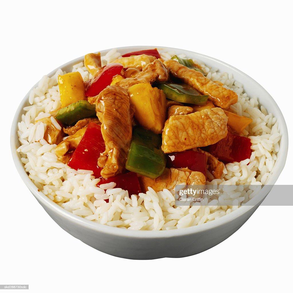 Close-up dish of Chinese food : Stock Photo