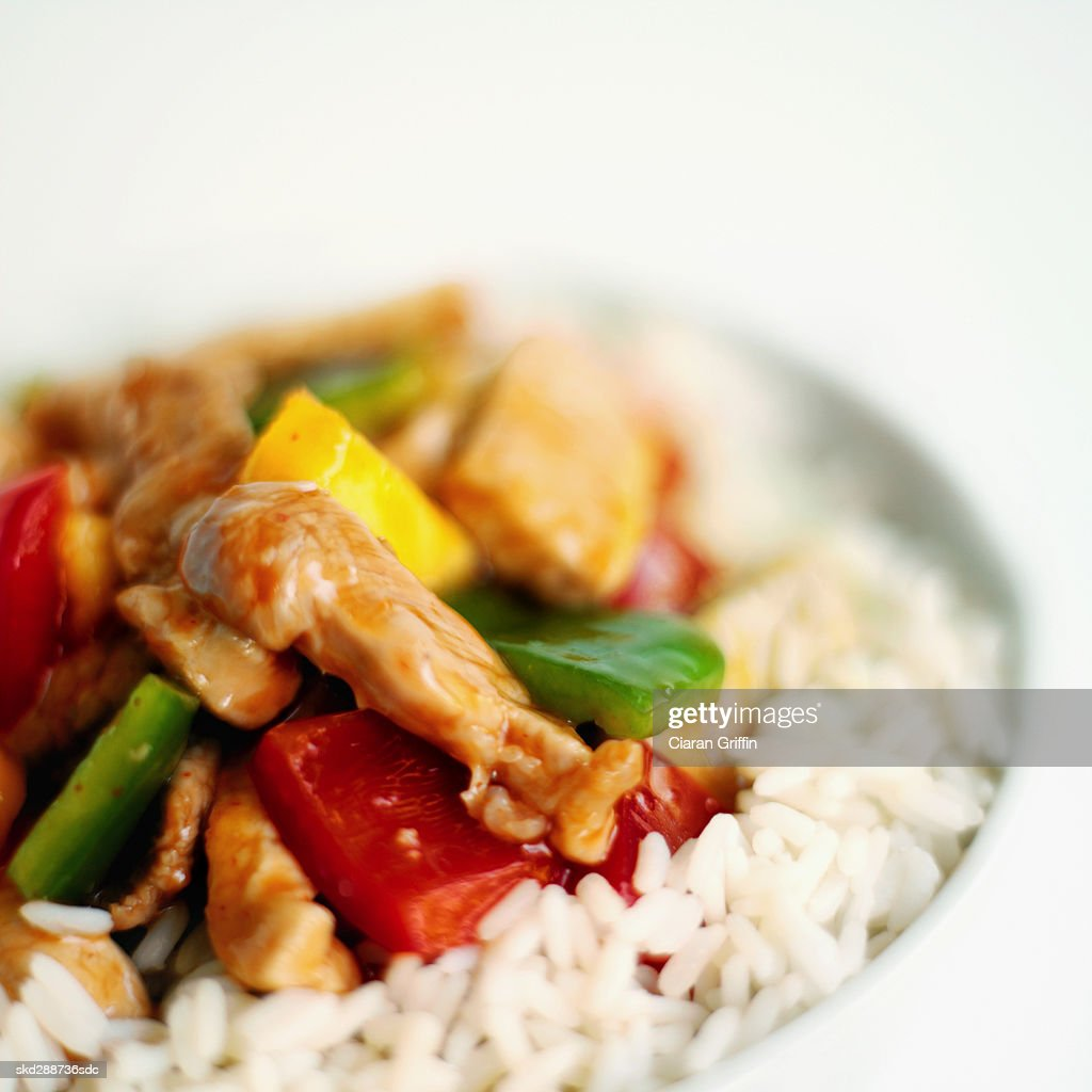 Close-up dish of Chinese food : Stock Photo