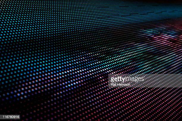 Close-up, full frame of an abstract image on an LED display