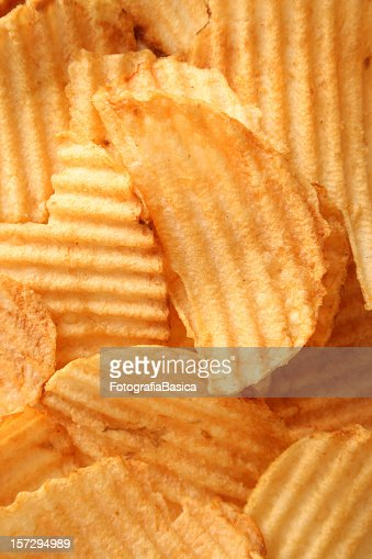 Close-up full frame of potato chips : Stock Photo