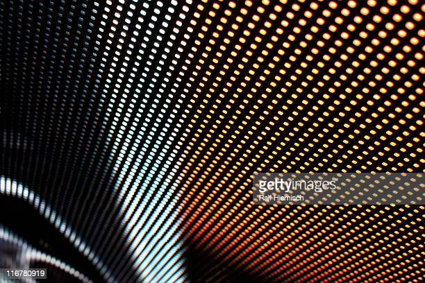 Close-up, full frame of shapes on an LED display
