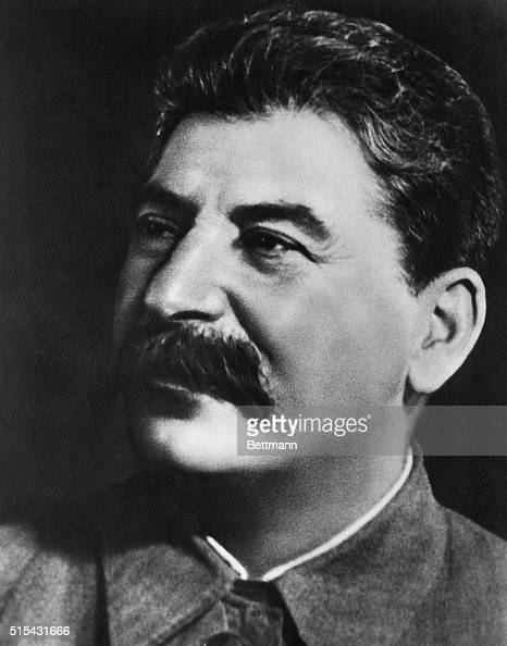Closeup head shot of Joseph Stalin He ruled the USSR as General Secretary of the Communist Party and then Premier from 19221953 Undated photograph