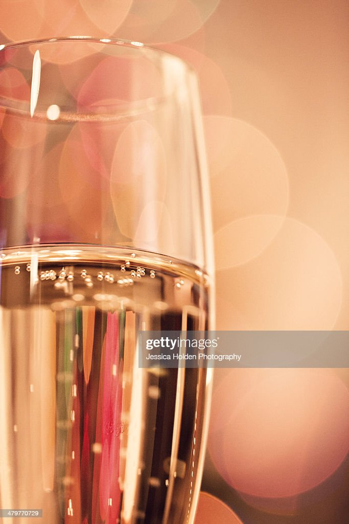 Close-up Image of Bubbling Champagne