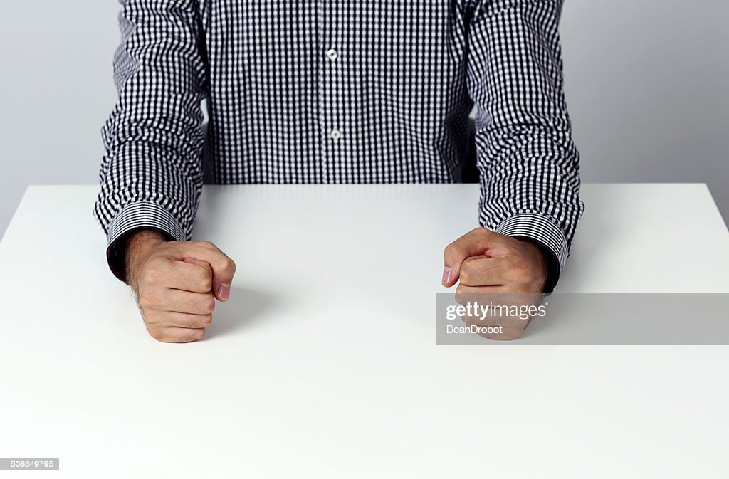 Closeup image of two fists : Stock Photo