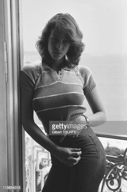 Closeup Jamie Lee Curtis at Cannes during the Cannes Film festival in 1980