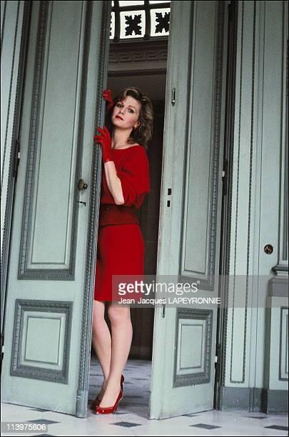 Closeup Jane Manson in Paris France on July 08 1983