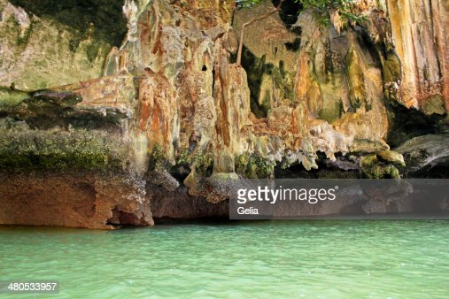Close-up Ko Tapu island in Thailand : Stock Photo