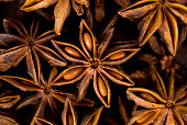 Star anise background.