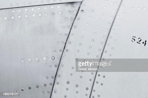 Nahaufnahme von einem Flugzeug Hintergrund Textur