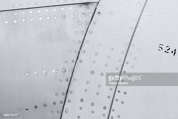 Close-up of a aircraft background texture