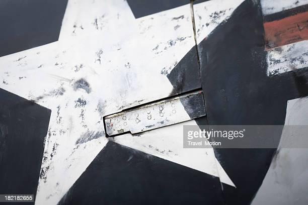 Gros plan d'un avion de la texture