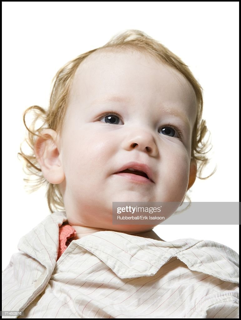 Close-up of a baby girl : Stock Photo
