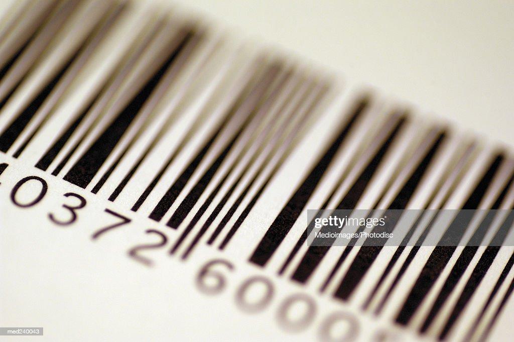 Close-up of a bar code : Stock Photo