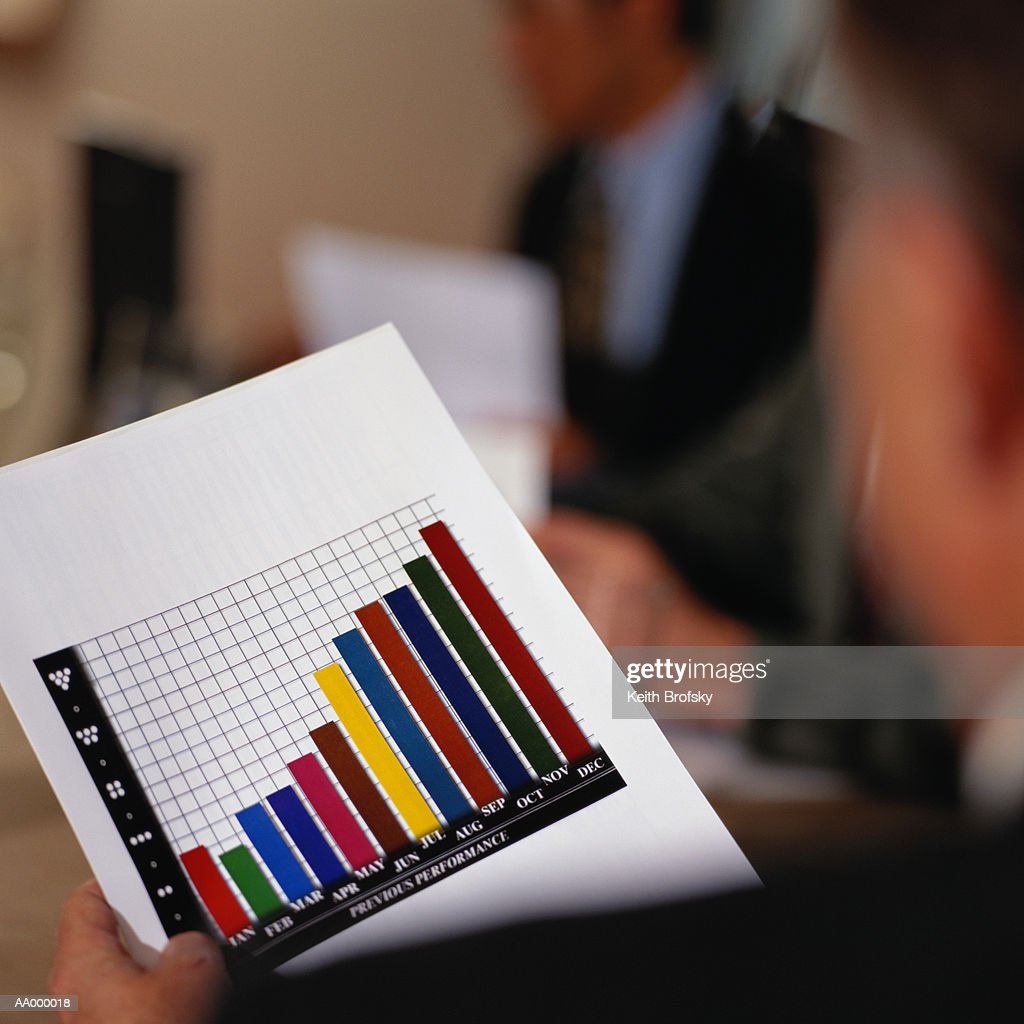 Close-up of a Bar Graph : Stock Photo