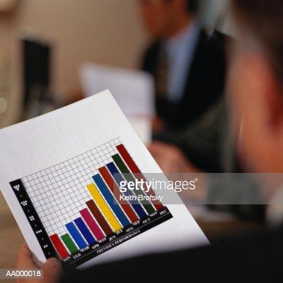 Close-up of a Bar Graph : Bildbanksbilder
