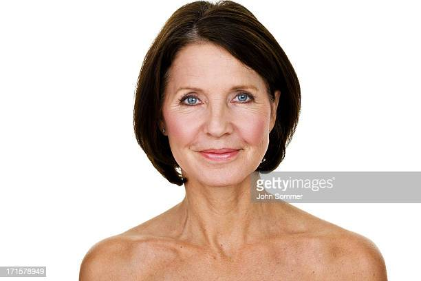 Closeup of a beautiful mature woman
