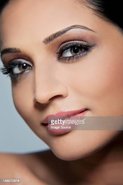 Close-up of a beautiful woman