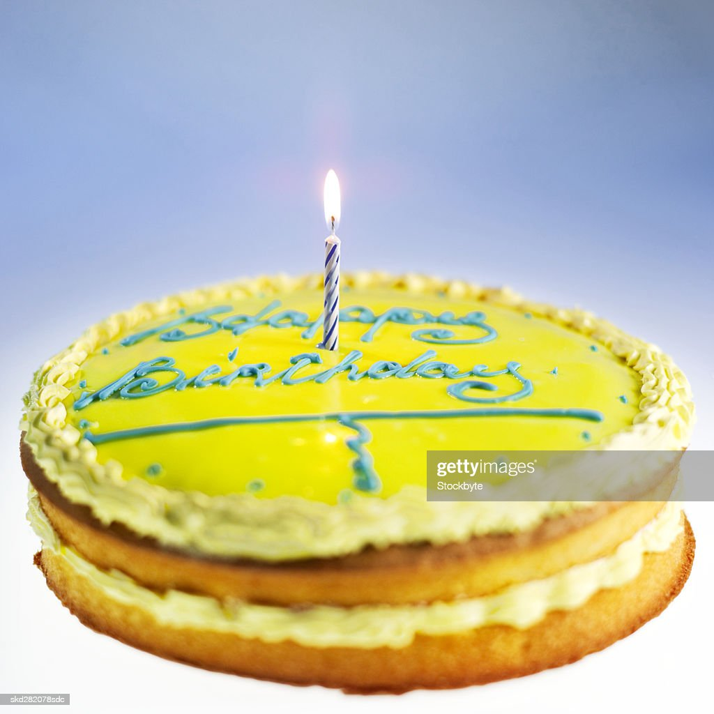 Close-up of a birthday cake : Stock Photo
