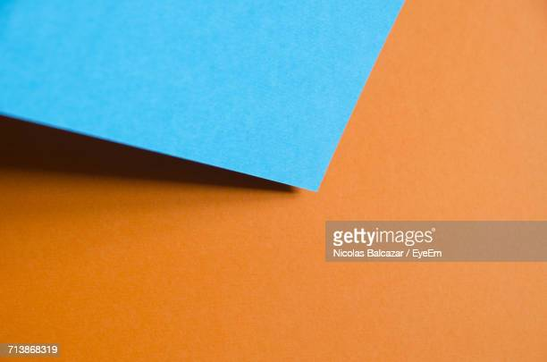 Close-Up Of A Blue Paper
