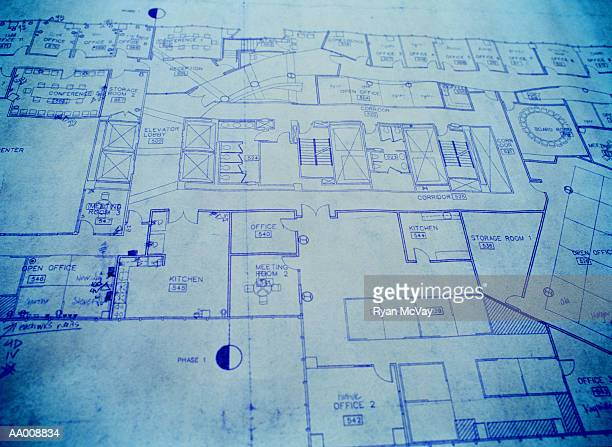 Close-up of a Blueprint