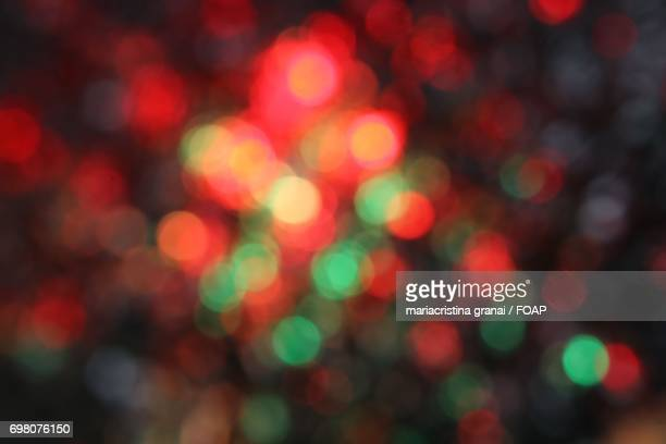 Close-up of a blurred christmas lights