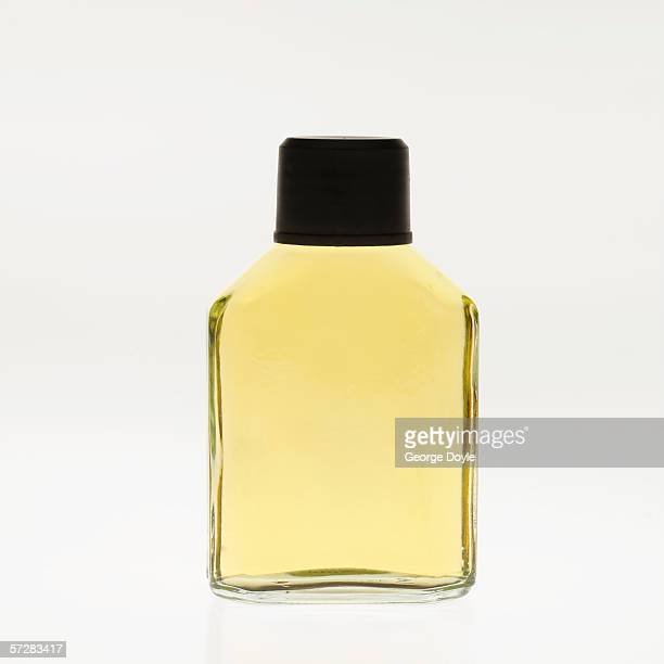 Close-up of a bottle of cologne