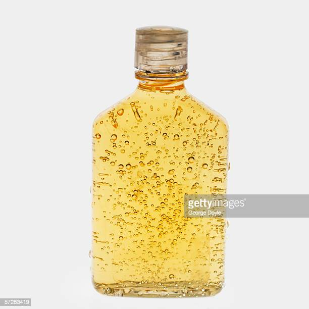 Close-up of a bottle of shampoo