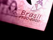 Close-up of a Brazilian bank note