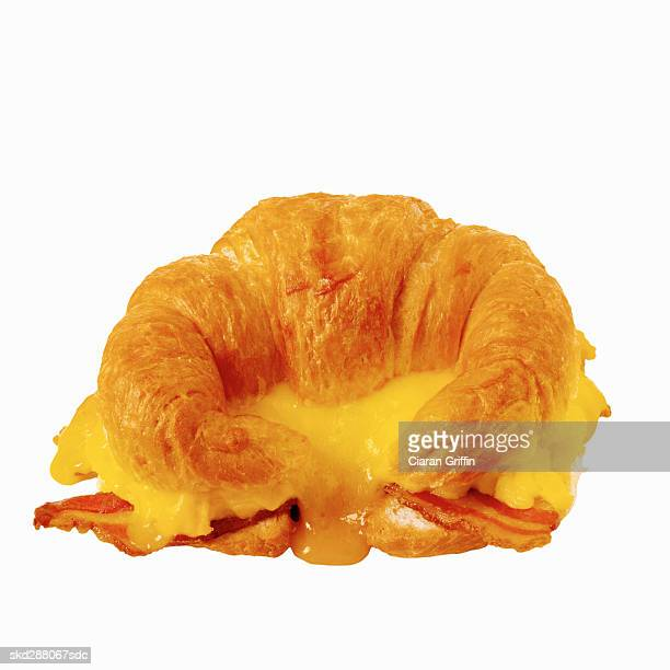 Close-up of a breakfast croissant
