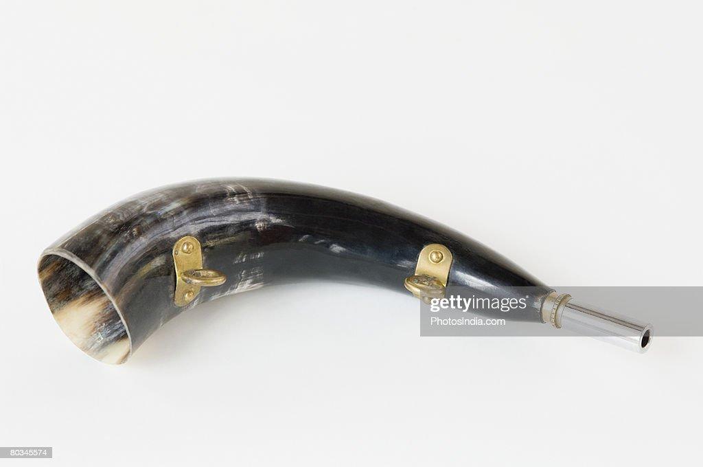 Close-up of a bugle
