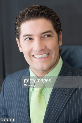 Close-up of a businessman smiling : Foto de stock