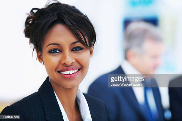 Close-up of a businesswoman smiling