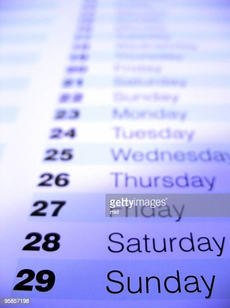 Nahaufnahme von einem Kalender 1
