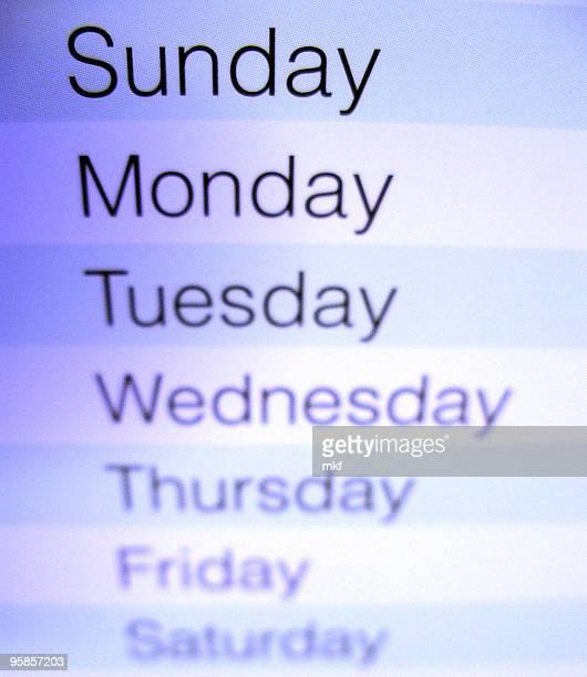 Nahaufnahme von einem Kalender 3