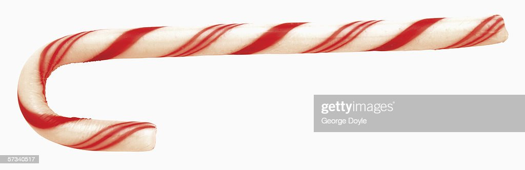 close-up of a candy cane