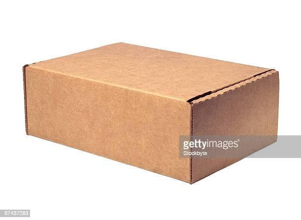 close-up of a cardboard box