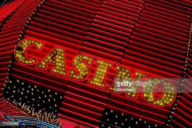 Close-up of a casino sign, Las Vegas, Nevada, USA