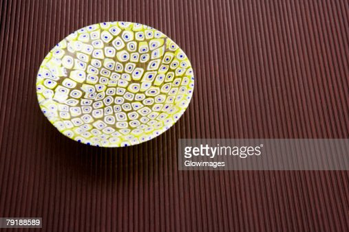Close-up of a ceramic bowl on a table : Stock Photo