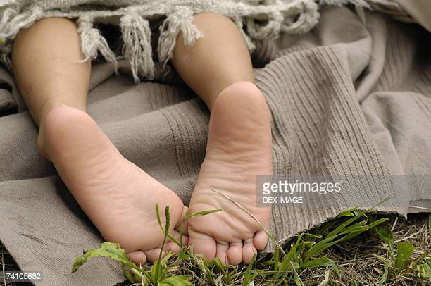 Close-up of a child's foot