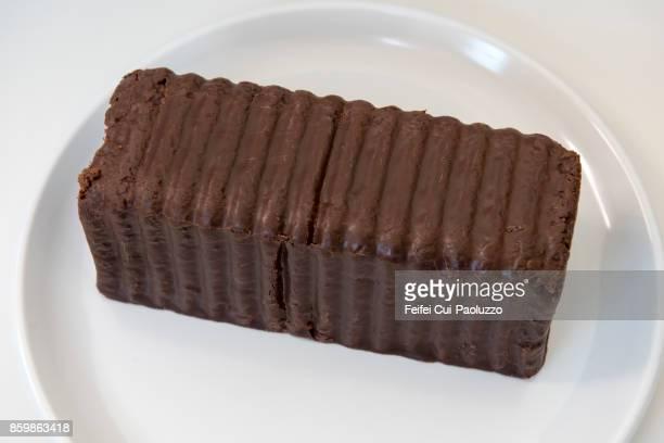 Close-up of a chocolate cake